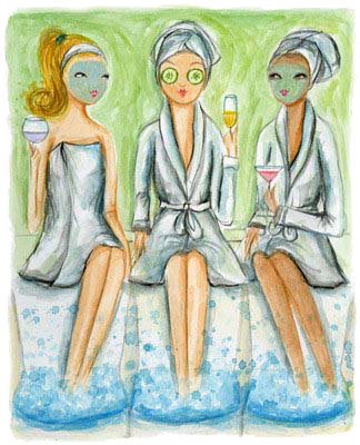 Fun at a spa party